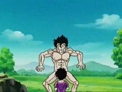 Dragon Ball Z โกฮังลูกชายโงกุนเล่นชู้เย็ดหีบลูม่าเมียลุงเบจิต้า ช่วยไม่ได้ เค้ายั่วเย็ดผมเอง