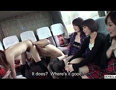 คลิปโป๊นักเรียนญี่ปุ่นไปทัศนศึกษาเย็ดกันบนรถทัวร์ยทนเย็ดหีเลียหีขย่มควยอย่างเด็ด